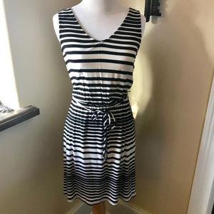 Merona B&W Striped Sundress XS